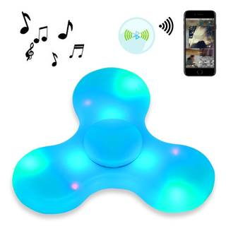 Amazon | FidgetKool LEDライト USB充電 Bluetooth音楽 ハンドスピナー | おもちゃ 通販 (51080)
