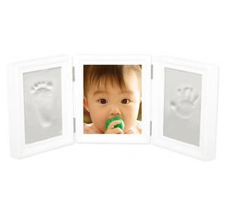 Amazon | [Gioioso] 『今』を残せる フォトフレーム 赤ちゃん 手形足形キット 見開き三面タイプ (52944)