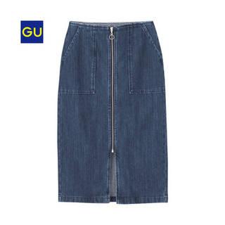 ジーユー|デニムフロントジップタイトスカート|WOMEN(レディース)|公式オンラインストア(通販サイト) (53395)