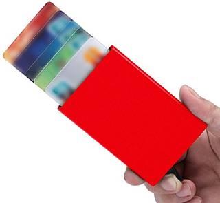 【5枚収納】 薄型 磁気防止指一本で取り出せる...