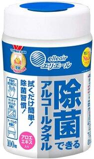Amazon | エリエール ウェットティッシュ 除菌 アルコールタイプ ボトル 本体 100枚  (55108)