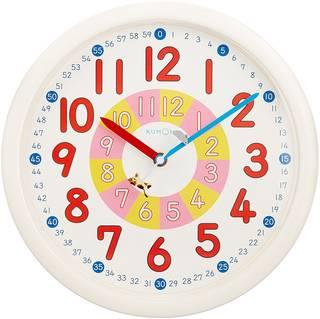 針と同じ色の数字をよめば、時計がよめる! 「時」は赤い...