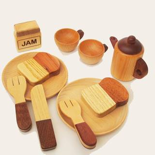 Amazon | スプソリ 木のおもちゃ 木製ままごと ティーポットセット (74140)