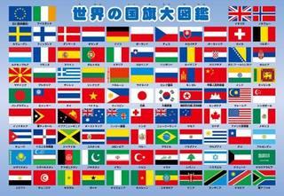 Amazon | 63ピース 子供向けパズル 世界の国旗大図鑑 ピクチュアパズル (75541)