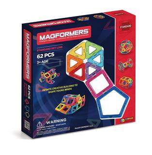 Amazon | Magformers Magnetic 62 Piece Set [並行輸入品]  (75794)