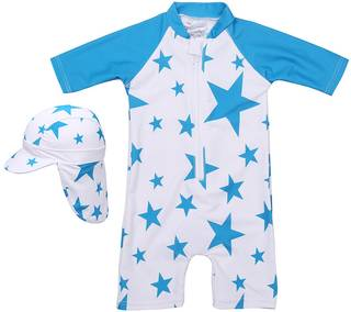 Amazon | Babystity 水着 UPF50+ 帽子付き (76827)