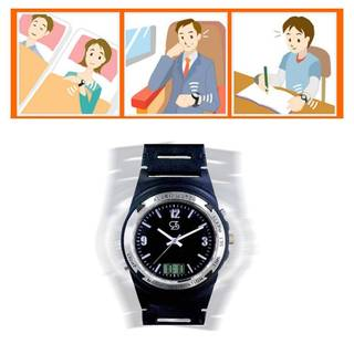 Amazon.co.jp: 強力振動目覚まし腕時計 Wake V WV-0601 (84518)