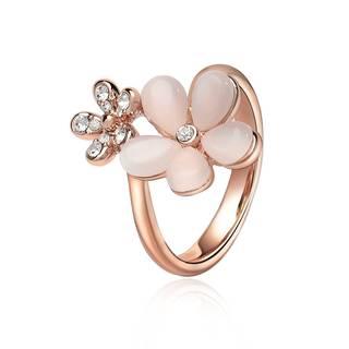 Amazon | IUHA 18K ピンクゴールドメッキ オーストリア産のCZダイヤモンド (86593)
