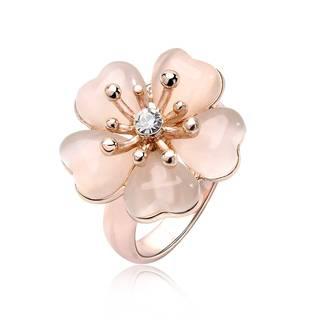 Amazon | IUHA 18K ピンクゴールドメッキ 上オーストリア産のCZダイヤモンド (86598)