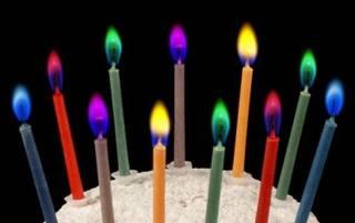 Amazon|【ノーブランド】ケーキ用ろうそく【カラーフレームバースデーキャンドル 5色セット】×2セット(合計10本) (86887)