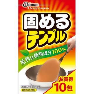 Amazon | テンプル 油処理剤 固めるテンプル 10包入(1包当たり油600ml) 18g×10包 (88813)