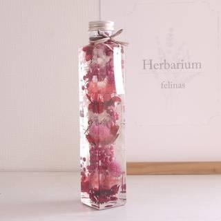 Amazon|ハーバリウム [角瓶ピンク, 1本] プリザーブドフラワー (89884)