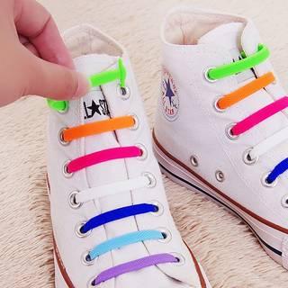 Amazon.co.jp: Mocent 靴紐 結ばない 伸縮型 くつひも3セット 48本(大人) (90773)