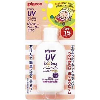 Amazon | ピジョン UVベビー ウォーターミルク SPF15 PA++ 60g (0ヵ月~)  (93258)