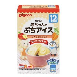 Amazon |【公式】ピジョン 赤ちゃんのぷちアイス りんご&にんじん 20g(10g×2袋) (93401)