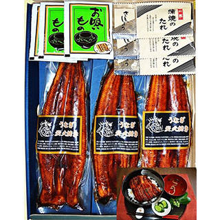 Amazon | 【父の日・お中元ギフト】鰻蒲焼3枚セット・ふっくらととろける炭火焼の鰻蒲焼  (94072)