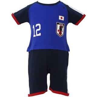 Amazon.co.jp:2018年 夏物 サッカー日本代表 かぶり半袖カバーオール (94657)
