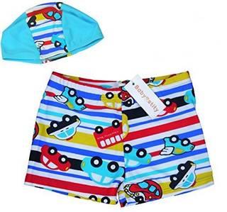 Amazon.co.jp: 【Babystity】 子供 ベビー 男の子 水着 帽子 2点セット (95282)
