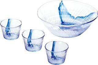 Amazon|そうめん鉢セット 和の彩 大鉢 (95347)