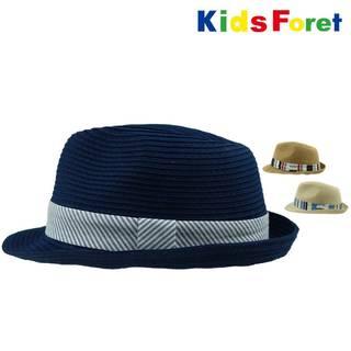 Amazon.co.jp:【子供服】Kids Foret  洗えるたためる中折れ帽 (96192)
