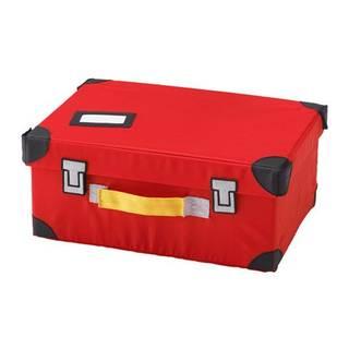 Amazon | IKEA FLYTTBAR おもちゃ用トランク レッド (96294)