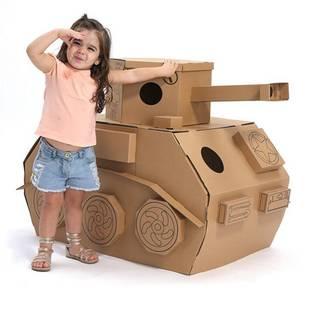 Amazon | 組立品 ままごと ダンボール おもちゃ バオバブ紙器 (戦車) (96657)