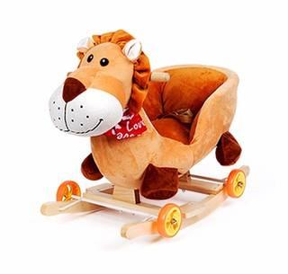 Amazon | Claroドリーチェアロッキング赤ちゃんのロッキングチェア木馬 (97794)