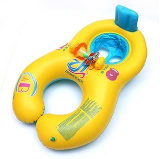 Amazon | KAHE うきわ タンデムリング ボート 赤ちゃんも安心 2人用 (97966)