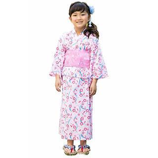 Amazon | [ALICE MAGIC] 浴衣 子供 (2WAY) 女の子用 浴衣ワンピース (98767)