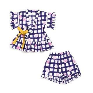 Amazon | ampersand チェックとドット柄Girl's甚平スーツ (98772)