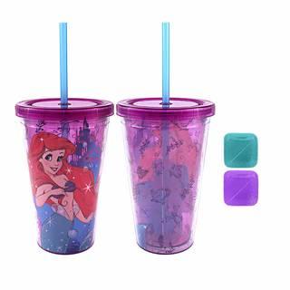 Amazon | DisneyアリエルCastleプラスチックCold Cup with Squareアイスキューブ (99118)