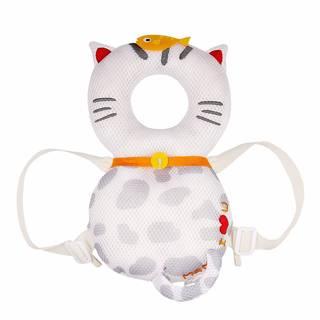 Amazon | global I mall 可愛いリュック 赤ちゃんのごっつん防止やわらかリュック  白いネコ (100227)