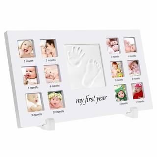 Amazon | 手形 赤ちゃん 手形 足形フレームベビー フォト フレーム (105131)