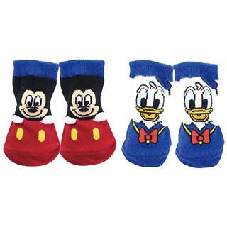 ディズニー ベビーソックス 2柄セット(ミッキーマウス・ドナルドダック) (105224)