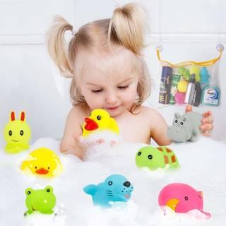 Amazon | JoyGrow お風呂 おもちゃ シャワー あびる かわいい動物 8個セット (106012)