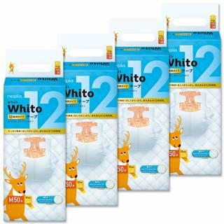 Amazon |【ケース販売】 ネピア Whito テープ Mサイズ(6~11Kg) 12時間タイプ 200枚(50枚×4パック) (107168)