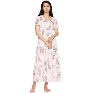 Amazon | [ジェラート ピケ] TROPICAL花柄半袖ドレス (107669)