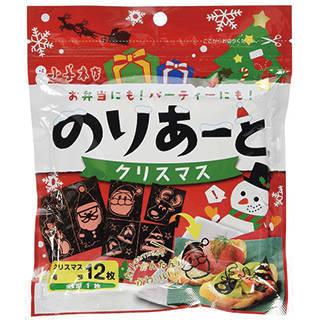 Amazon | 小善本店 のりあーと クリスマス 全型1枚(クリスマス海苔12枚) (108564)