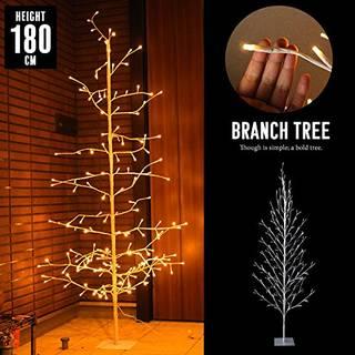 Amazon | クリスマスツリー ホワイト 枝ツリー 180cm (108882)