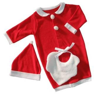 Amazon.co.jp:日本製 新生児 クリスマス サンタさん コスプレ 3点セット (110196)