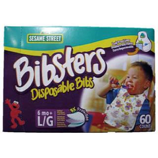 Amazon | bibsters パンパースビブスター 使い捨て よだれ掛け 60枚入り (111489)