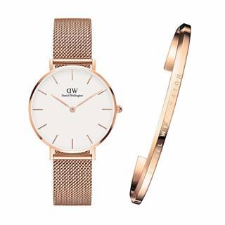 Amazon.co.jp: 腕時計 バングル セット 32mm ローズゴールド (112060)