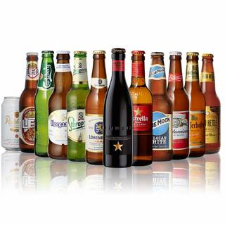 Amazon.co.jp: 世界のビール12本飲み比べギフトセット スペイン産高級ビール入 (112154)