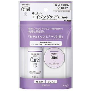 Amazon | 【トライアルセット】キュレル エイジングケア(化粧水30ml+クリーム10g) (112857)