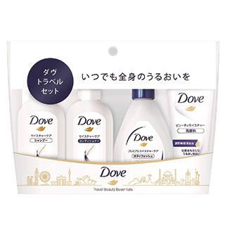 Amazon | ダヴ トラベルセット(シャンプー、コンディショナー、ボディウォッシュ、洗顔料) (113627)
