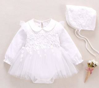 Amazon:S'Mベビー服 新生児女の子ドレス ロンパース結婚式フォーマル (113634)