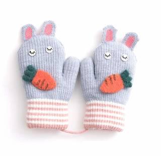 Amazon.co.jp: 子供用 ミトン手袋 キッズ ニット グローブ (114053)