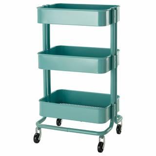 Amazon|IKEA(イケア) R?SKOG 10216537 キッチンワゴン, ターコイズ (114564)