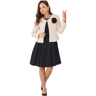 Amazon | ワンピース セレモニースーツ フォーマル マザースーツ 2点セット (116311)