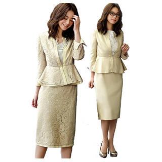Amazon | RUIRUE BOUTIQUE リバーシブル ペプラム スーツ セットアップ (116442)